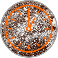 Clock on carpet and baking soda