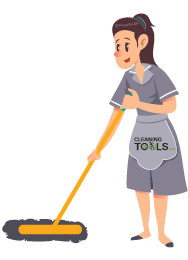 A Girl-Mopping-floor