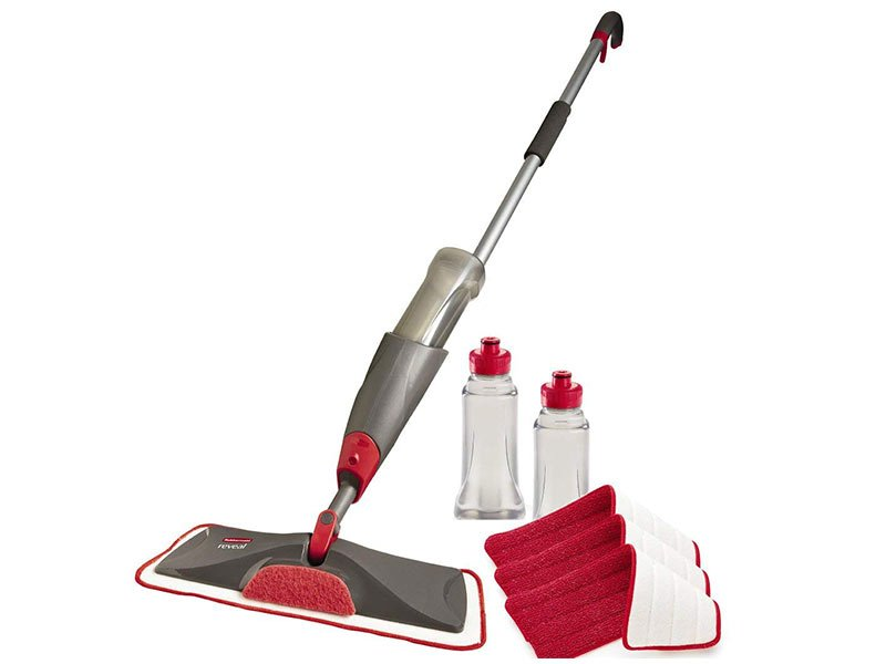 Rubbermaid spray mop for laminate floor cleaning