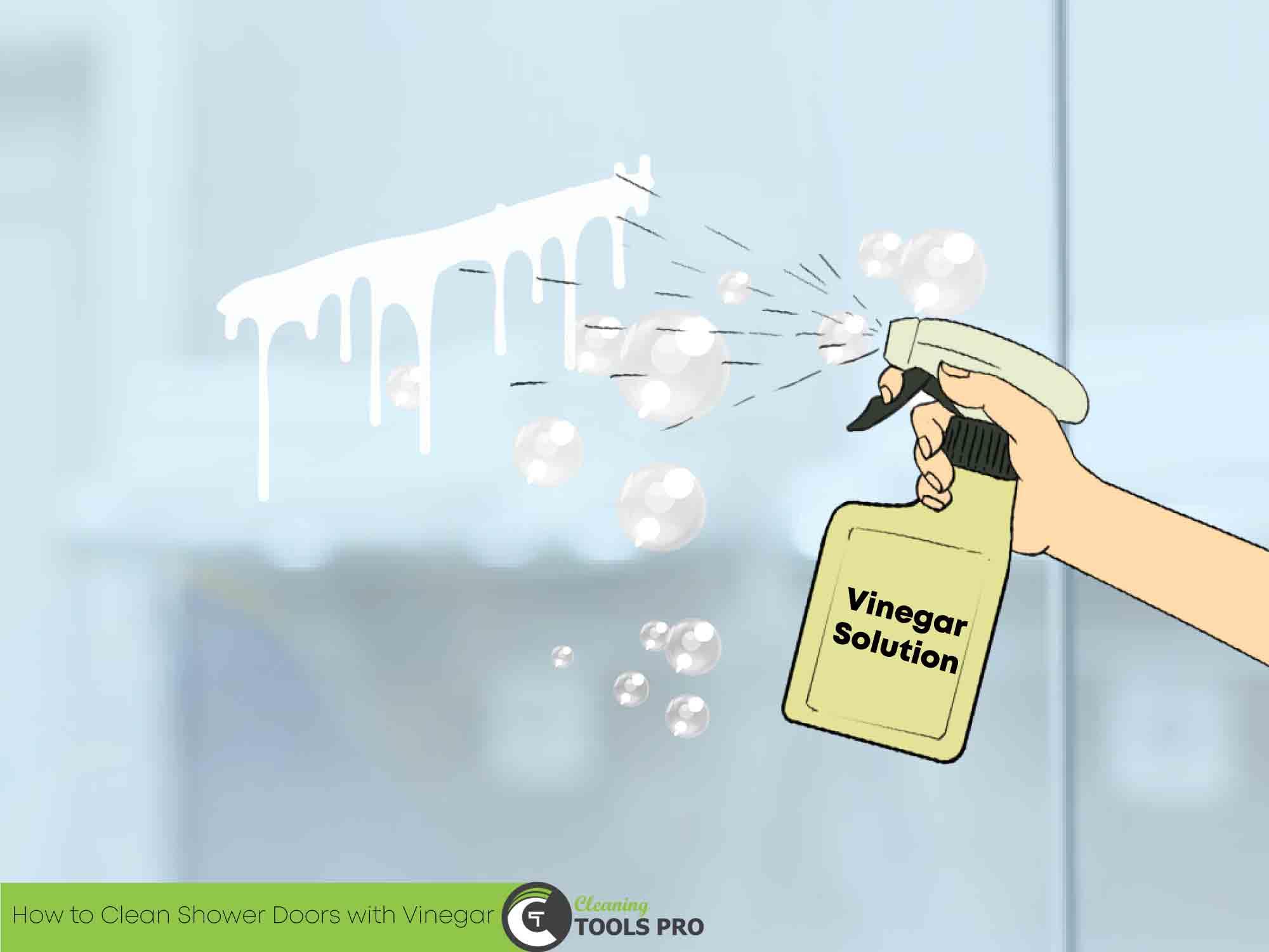 Spraying-vinegar-solution-in-shower-door