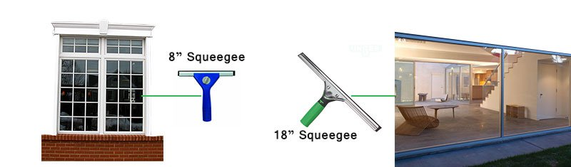 squeegee Length to clean different window cleaning