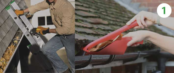 2 story house gutter-cleaning-traditional-ways