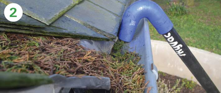 2 story house gutter-cleaning-with-sky-vacuum