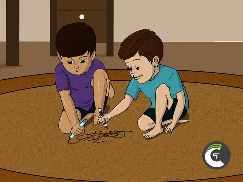 How to clean marker out of carpet 1